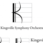 Kingsville Symphony Orchestra Logo with variations